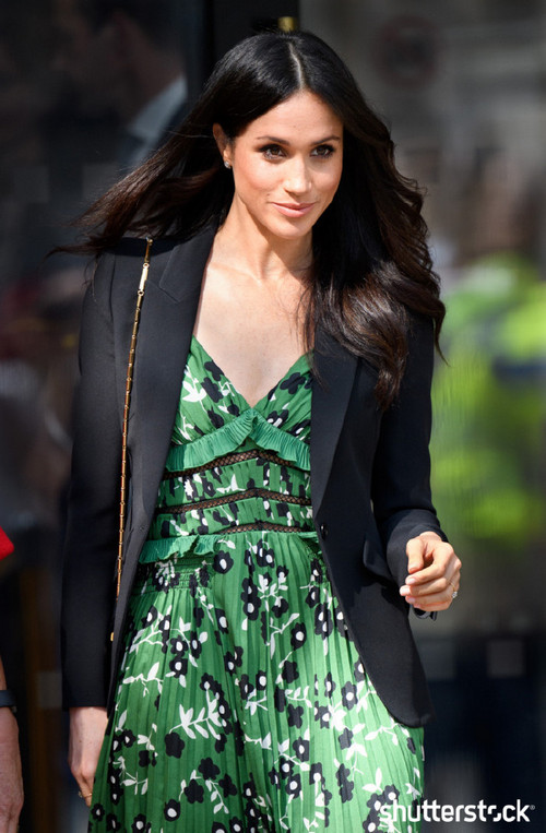 Prince Harry and Meghan Markle: The Year in Review - Meghan in a Green Dress