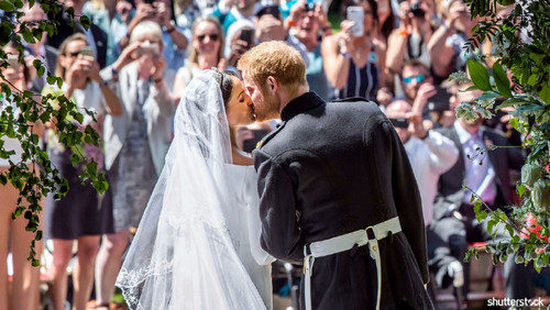 Prince Harry and Meghan Markle: The Year in Review - Wedding Kiss