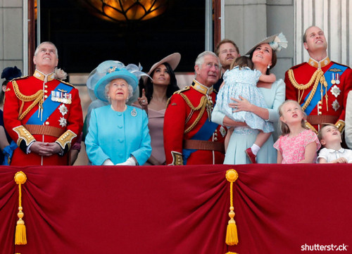 Prince Harry and Meghan Markle: The Year in Review - Trooping the Colour Royal Family