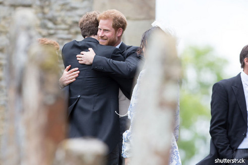 Prince Harry and Meghan Markle: The Year in Review - Hugging at the Wedding of Celia