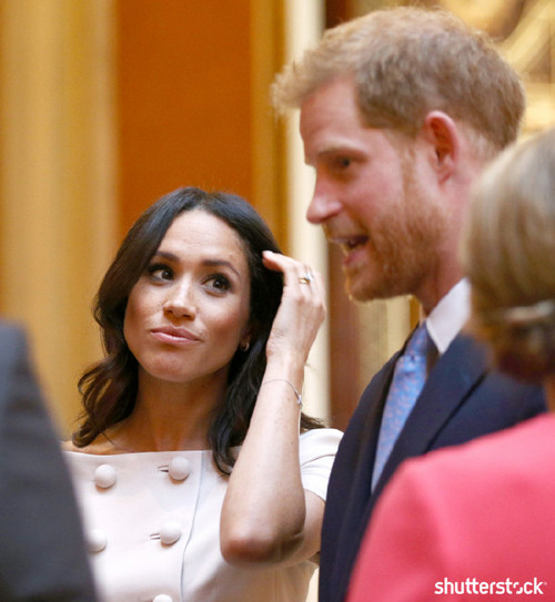 Prince Harry and Meghan Markle: The Year in Review - Meghan at Queen's Young Leaders