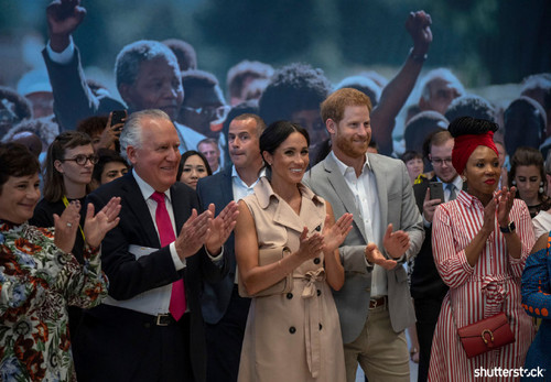 Prince Harry and Meghan Markle: The Year in Review - Applauding at the Mandela Centenary Launch