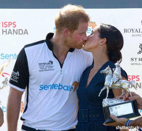 Prince Harry and Meghan Markle: The Year in Review - Polo Benefit Kiss