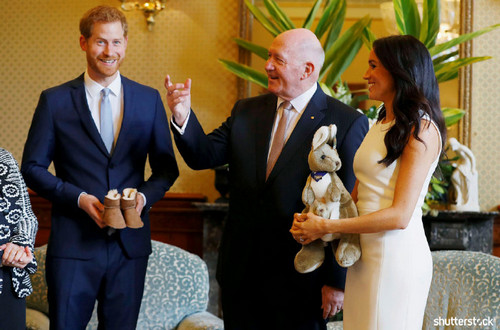 Prince Harry and Meghan Markle: The Year in Review - First Baby Presents