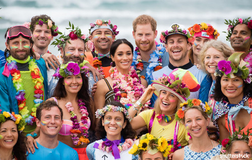 Prince Harry and Meghan Markle: The Year in Review - Colorful Group Photos