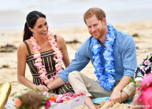 Prince Harry and Meghan Markle: The Year in Review - Flower Necklace