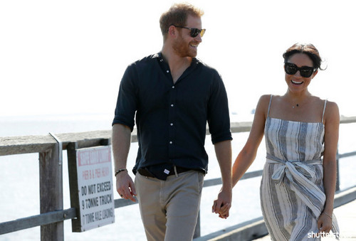 Prince Harry and Meghan Markle: The Year in Review - Holding Hands In Australia