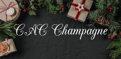 Free font for Christmas - CAC Champagne font