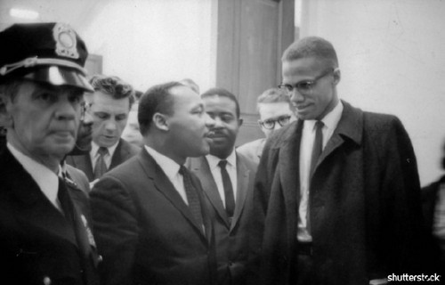 15 Breathtaking Photos from the Life of Martin Luther King Jr. - Martin Luther King Jr. and Malcolm X