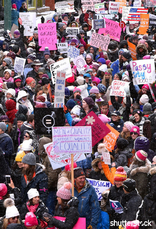 15 Priceless Photos from the Sundance Film Festival - Women's Solidarity March