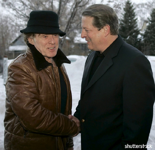 15 Priceless Photos from the Sundance Film Festival - Al Gore and Robert Redford