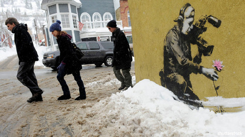 15 Priceless Photos from the Sundance Film Festival - Banksy