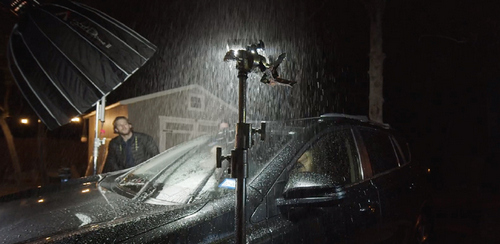 How To Light A Car Scene Using The Poor Man's Process - Storm Effects