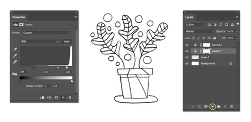 Turn a Sketch into Digital Art with This Complete Guide - Adjustment Layers