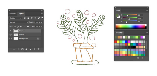 Turn a Sketch into Digital Art with This Complete Guide - Brush Tool