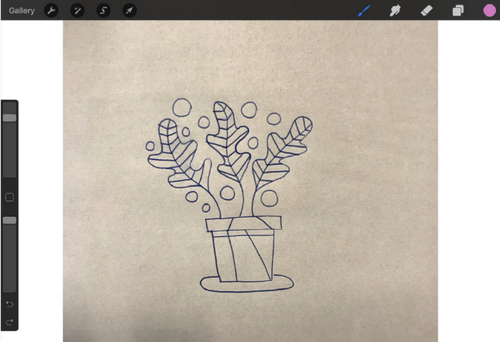 Turn a Sketch into Digital Art with This Complete Guide - Select from Camera Roll