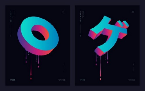 Use 2019's Most Popular Colors in Your On-Trend Designs - 3D Type and Logos