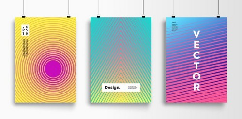 Use 2019's Most Popular Colors in Your On-Trend Designs - Trippy Poster Layout