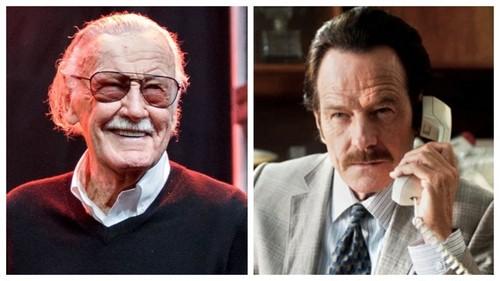 Stan Lee; Bryan Cranston in The Infiltrator