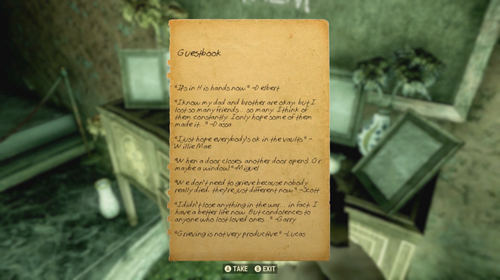 One of the many notes you'll read throughout Fallout 76.