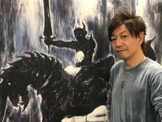 Yoshida poses in a meeting room at Square Enix's offices in Japan.