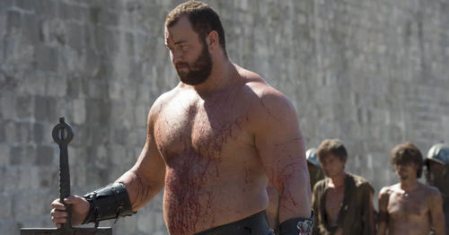 Hafþór Júlíus Björnsson as Ser Gregor Clegane, aka The Mountain