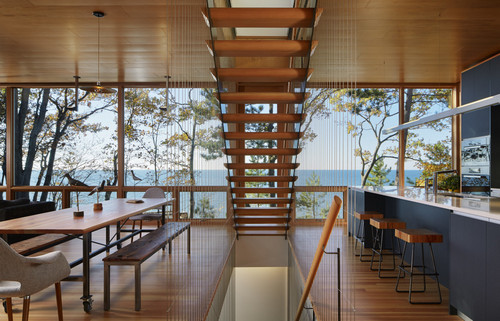 Suns End Retreat by Wheeler Kearns Architects, Michigan, United States