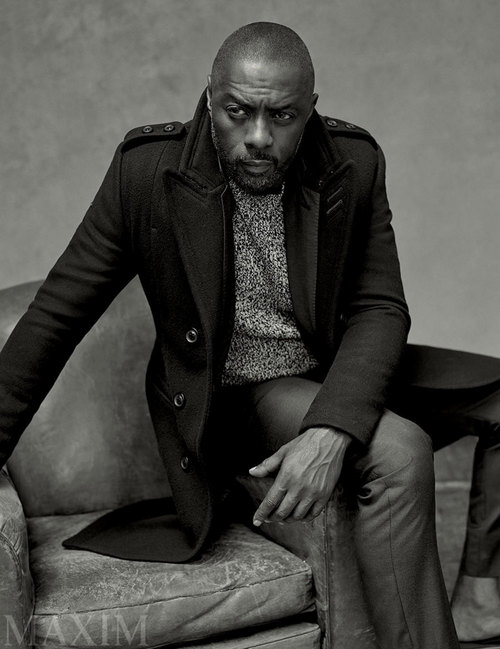 Idris Elba for Maxim. (Photo: Robbie Fimmano)