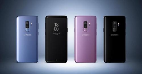 The Samsung Galaxy S9.