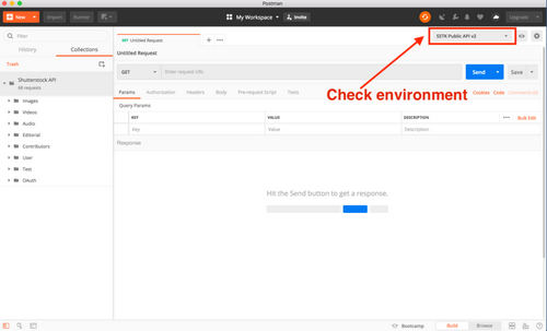 Explore the Shutterstock API with Postman — Authenticating