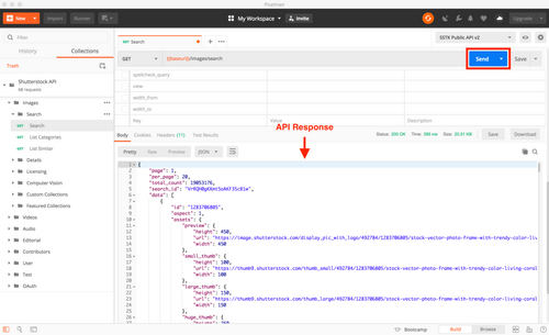 Explore the Shutterstock API with Postman — Image Search