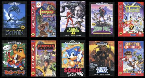Some of the classic Genesis games that will be included