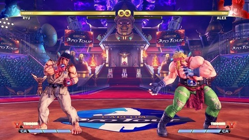 An example of more ads in Street Fighter V stages