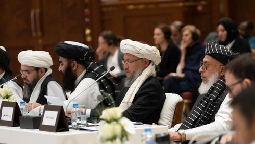 Members of the Taliban delegation at Intra-Afghan talks Sorin Furcoi/Al Jazeera