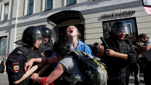 Hundreds arrested at Moscow demonstration for free elections