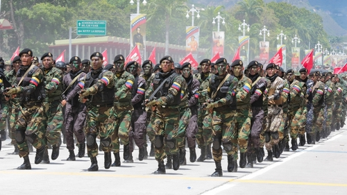 Military parade to celebrate the 208th anniversary of Venezuela's independence in Caracas