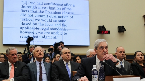 Former Special Counsel Robert Mueller testifies to the House Judiciary Committee about his report on Russian interference in the 2016 presidential election in the Rayburn House Office Building July 24