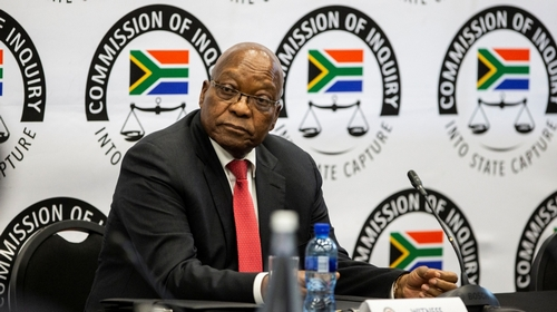South Africa's Jacob Zuma tells inquiry he's victim of conspiracy