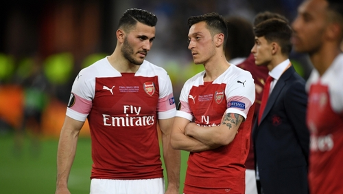 Ozil, Kolasinac miss Arsenal opener due to 'security incidents'