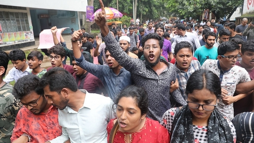 Students stage protest over alleged murder of Buet student Abrar Fahad on Monday, October 7, 2019, Dhaka, Bangladesh Mahmud Hossain Opu/Al Jazeera