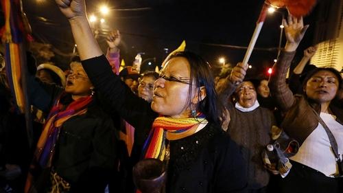 Ecuador protests - women