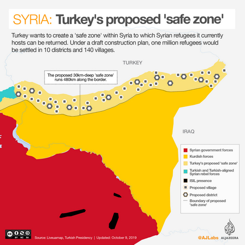 INTERACTIVE: Syria 'safe zone' map JAN 9 2019