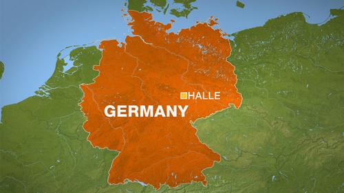 map - Halle - germany - aje