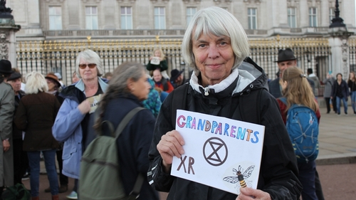 Extinction Rebellion Grandma and grandpa -