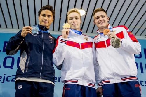 Даниил Марков (крайний справа) взял медаль и в личном, и в командном зачёте
