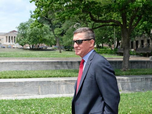 Former Trump aide Flynn appears to make pledge to QAnon in July 4 video