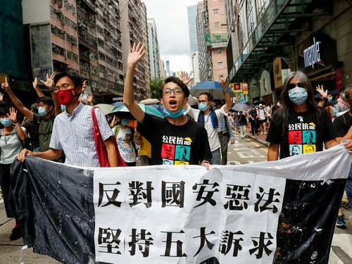 Hong Kong schools ban protest anthem as China sets up new security office